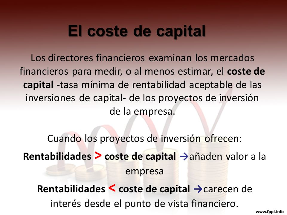 El coste de capital