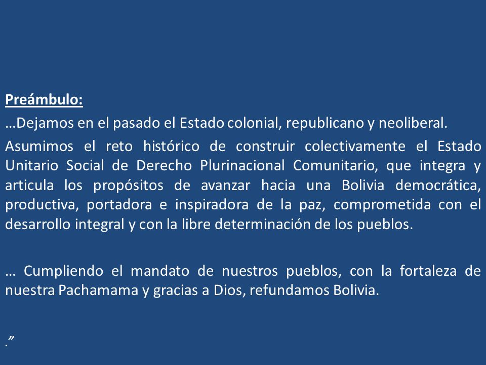…Dejamos en el pasado el Estado colonial, republicano y neoliberal.