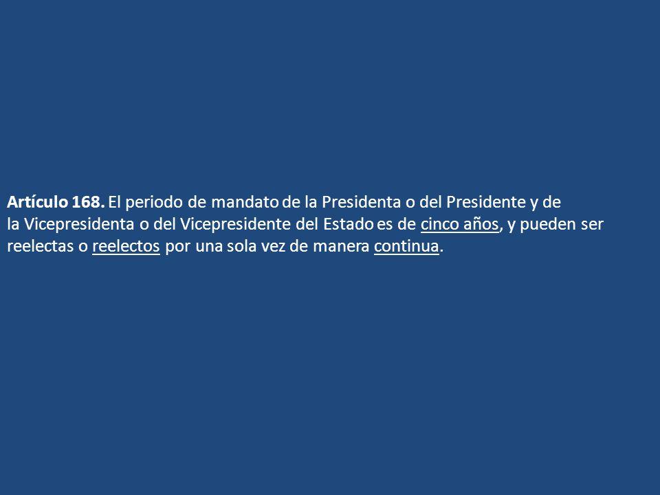 Artículo 168.