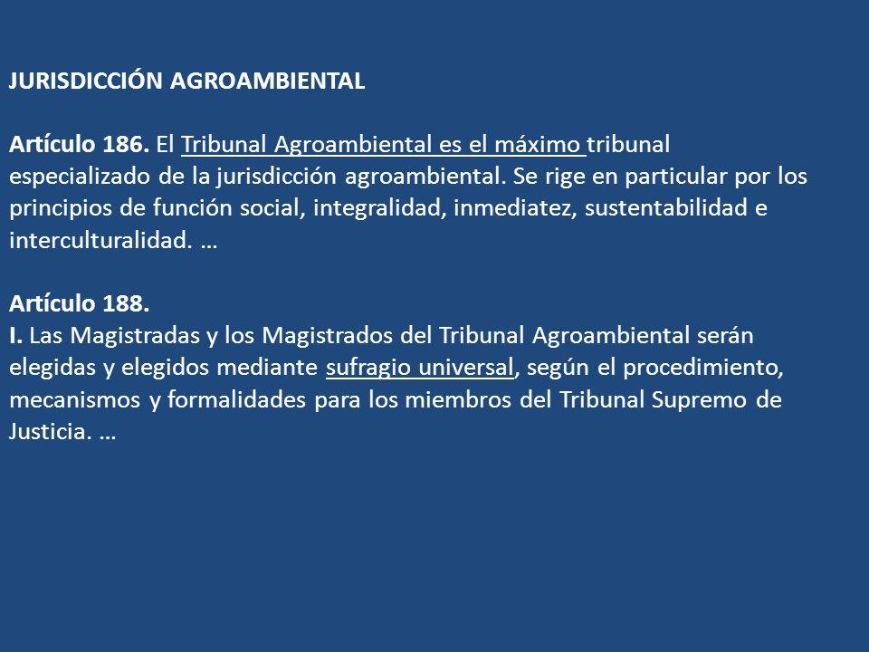 JURISDICCIÓN AGROAMBIENTAL Artículo 186