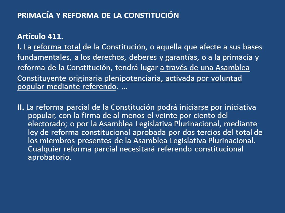 PRIMACÍA Y REFORMA DE LA CONSTITUCIÓN