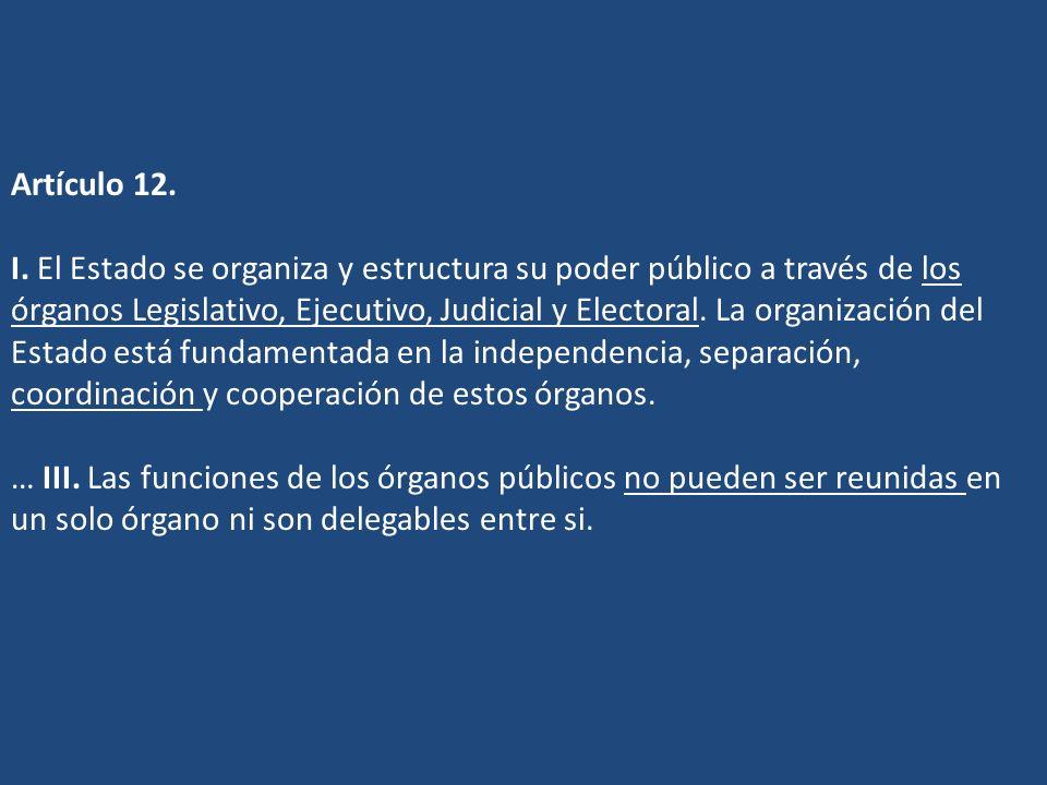 Artículo 12. I.