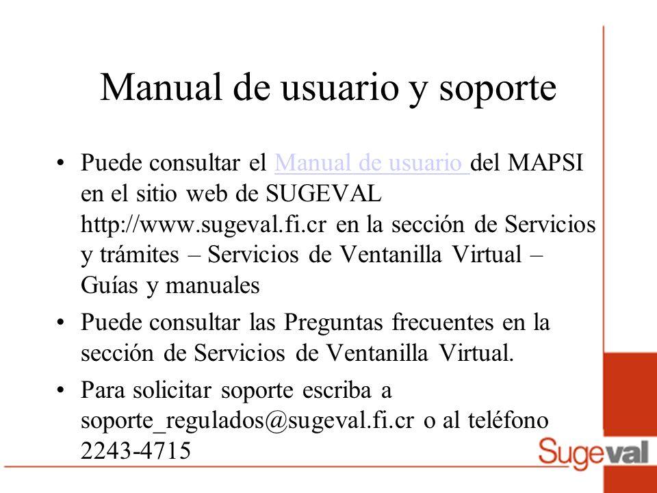 Manual de usuario y soporte