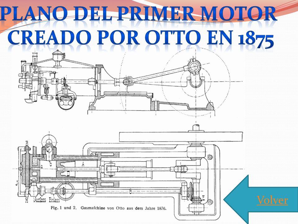 Plano del Primer motor creado por Otto en 1875