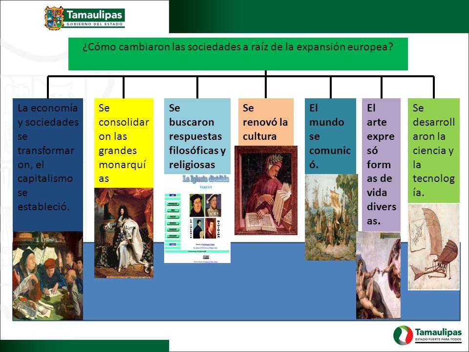 ¿Cómo cambiaron las sociedades a raíz de la expansión europea