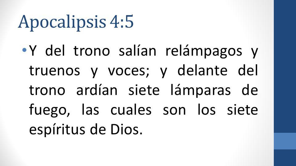 Apocalipsis 4:5