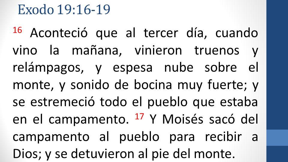 Exodo 19:16-19