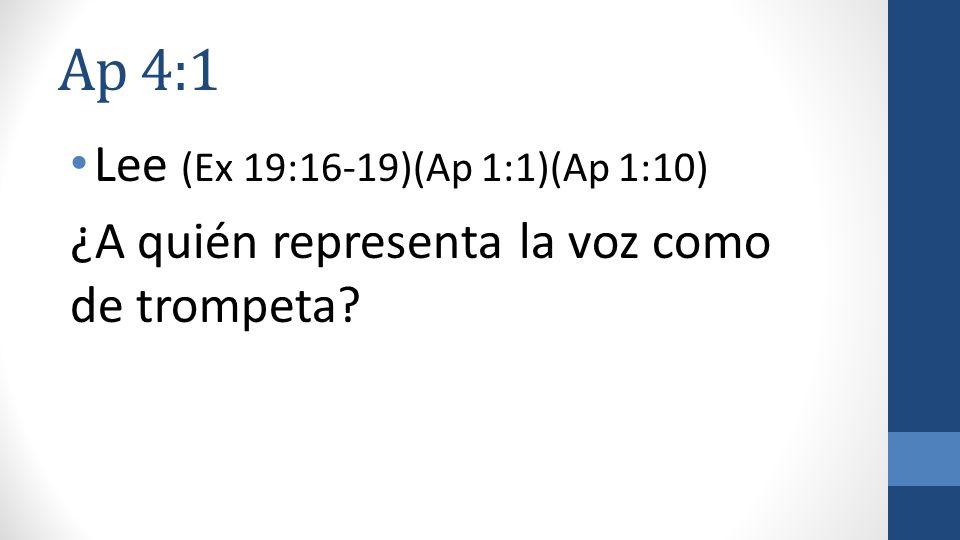 Ap 4:1 Lee (Ex 19:16-19)(Ap 1:1)(Ap 1:10)