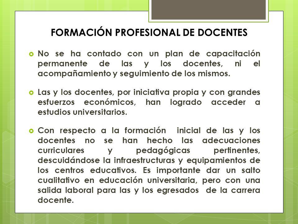 FORMACIÓN PROFESIONAL DE DOCENTES