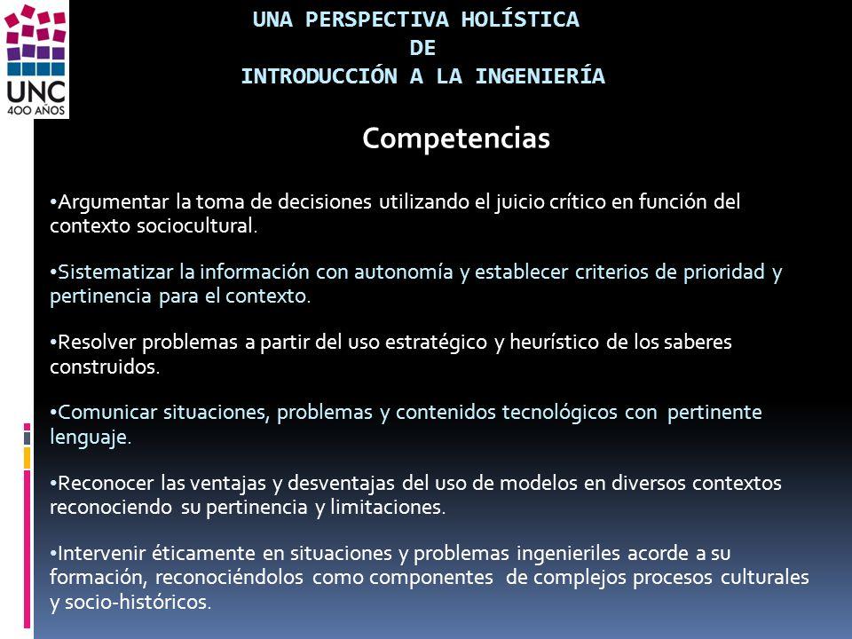 Una perspectiva holística de introducción a la ingeniería