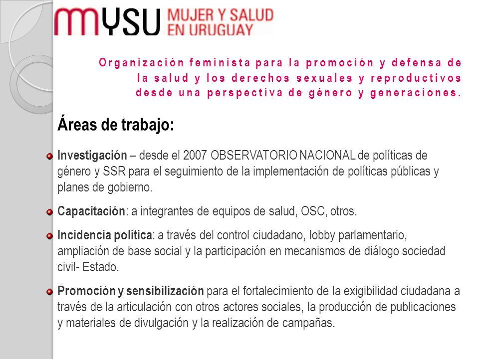 Organización feminista para la promoción y defensa de la salud y los derechos sexuales y reproductivos