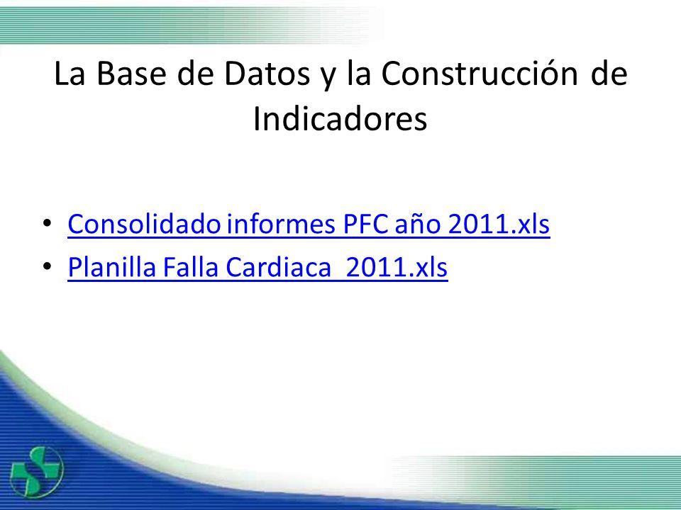 La Base de Datos y la Construcción de Indicadores