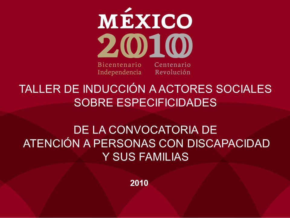 TALLER DE INDUCCIÓN A ACTORES SOCIALES SOBRE ESPECIFICIDADES