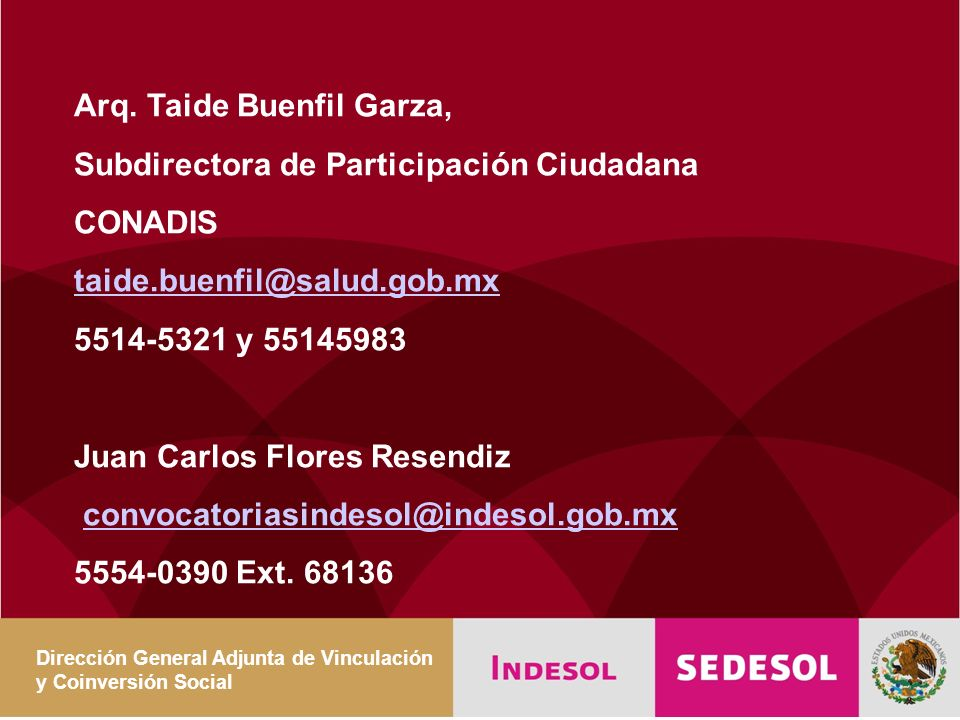 Arq. Taide Buenfil Garza, Subdirectora de Participación Ciudadana