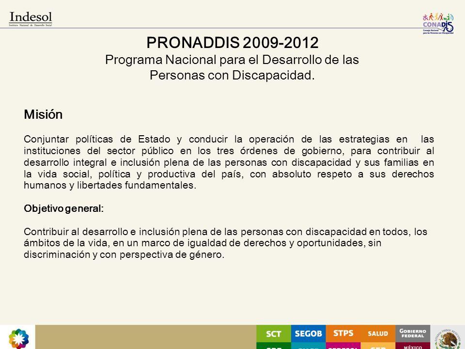 PRONADDIS 2009-2012 Programa Nacional para el Desarrollo de las