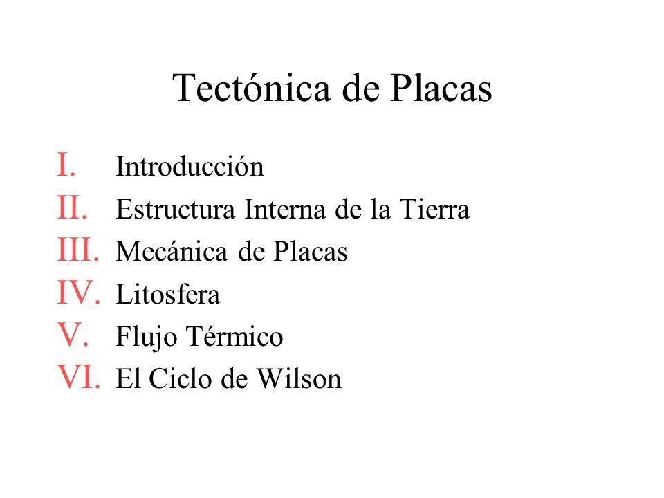Tectónica de Placas Introducción Estructura Interna de la Tierra