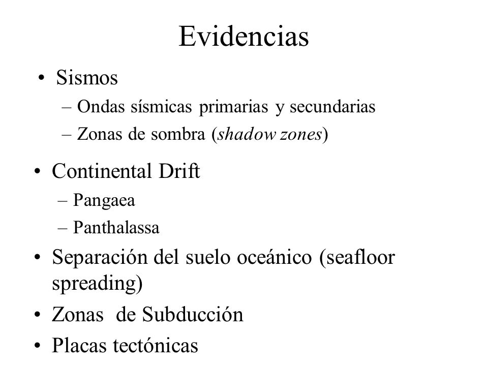 Evidencias Sismos Continental Drift
