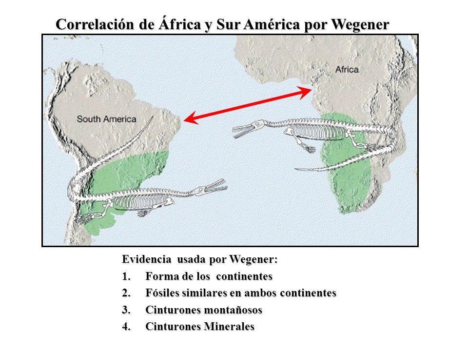 Correlación de África y Sur América por Wegener