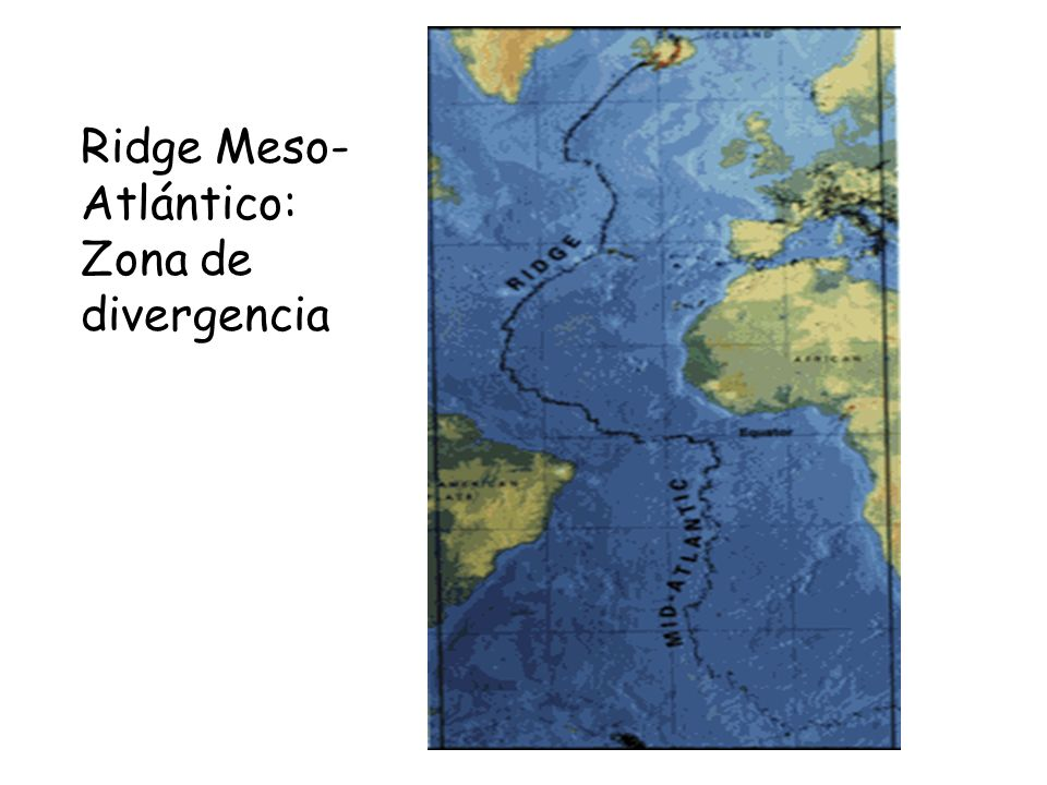 Ridge Meso-Atlántico: Zona de divergencia