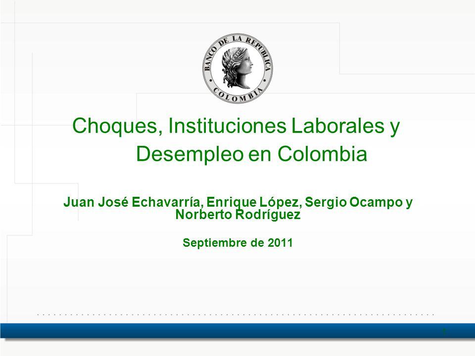 Choques, Instituciones Laborales y Desempleo en Colombia