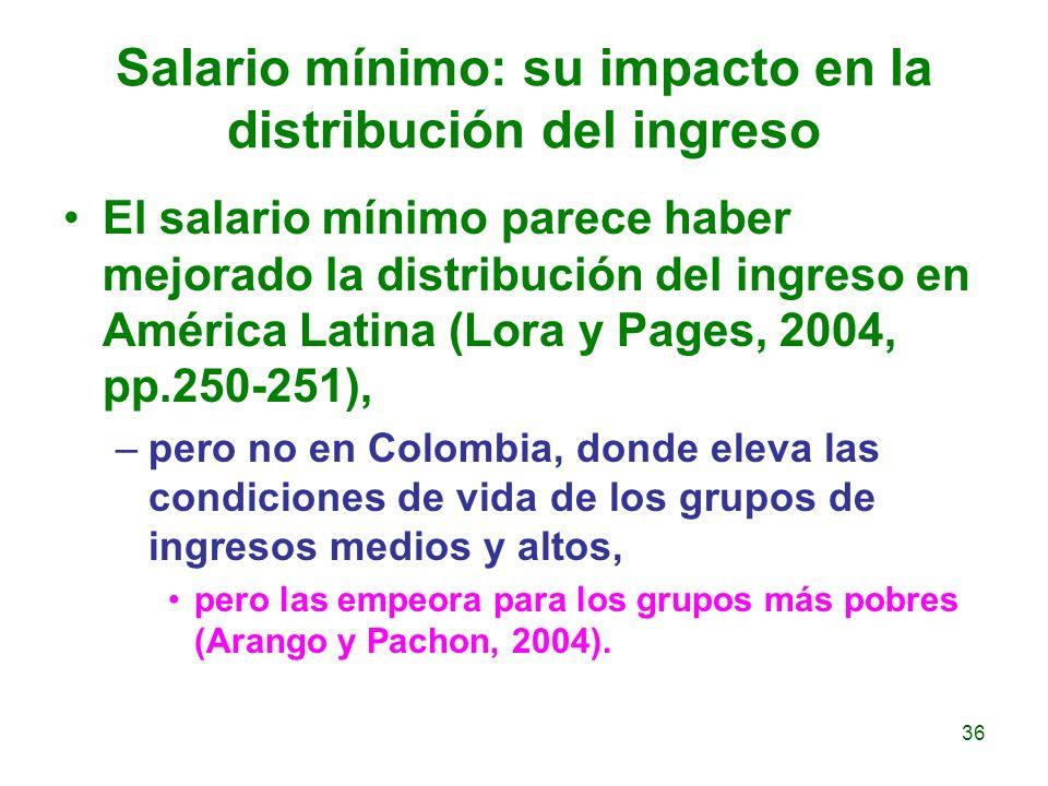 Salario mínimo: su impacto en la distribución del ingreso