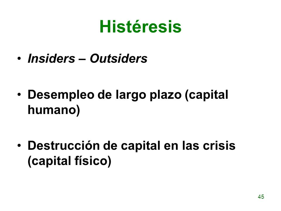 Histéresis Insiders – Outsiders