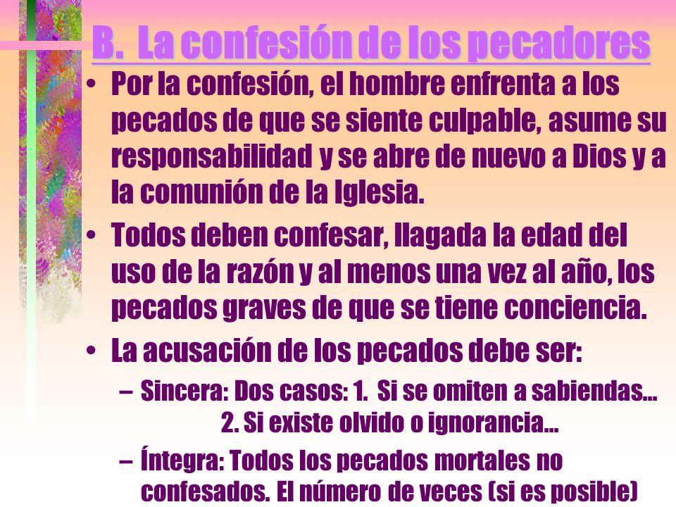 B. La confesión de los pecadores