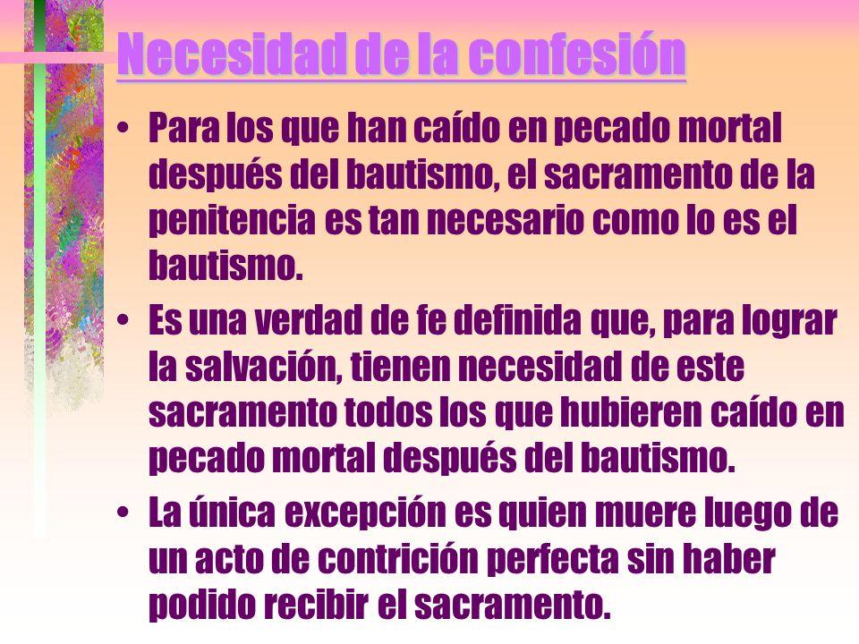 Necesidad de la confesión