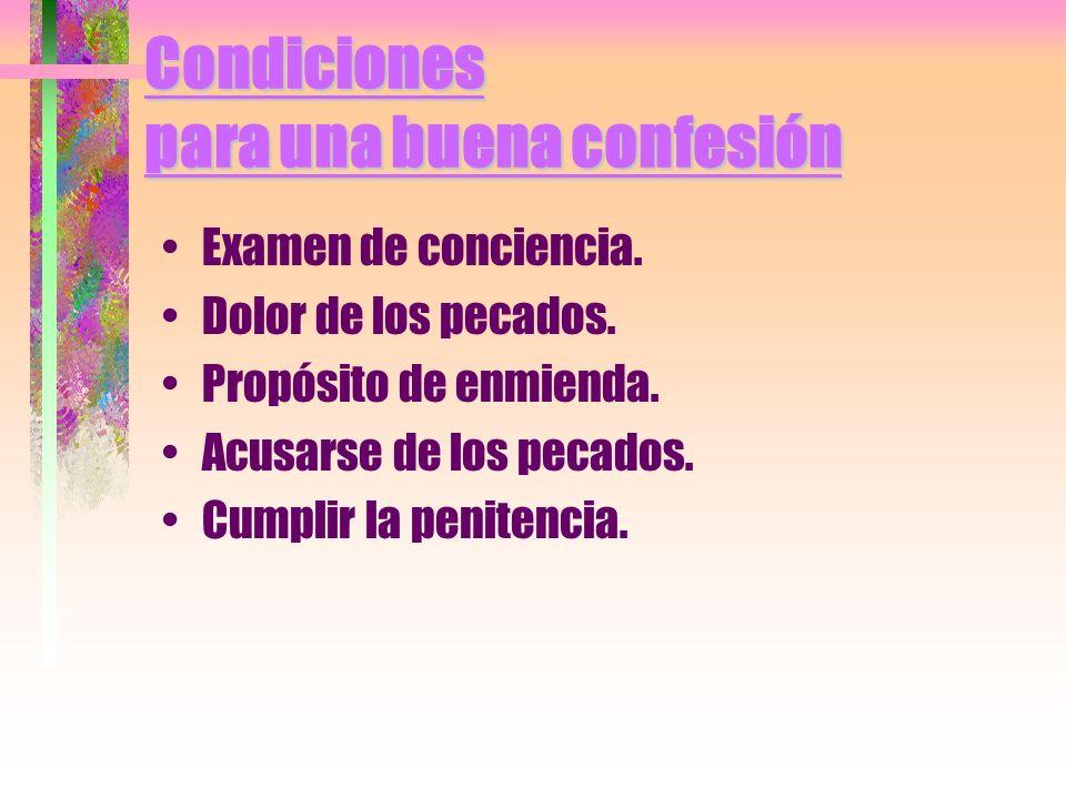 Condiciones para una buena confesión