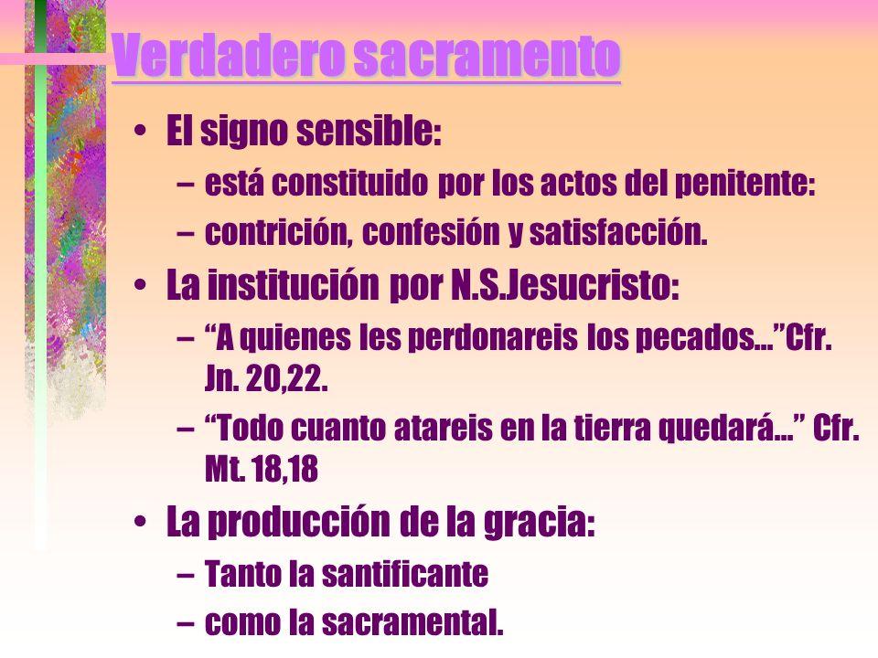 Verdadero sacramento El signo sensible:
