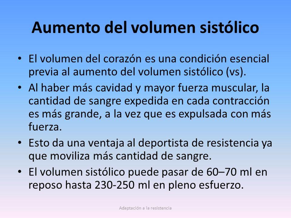 Aumento del volumen sistólico