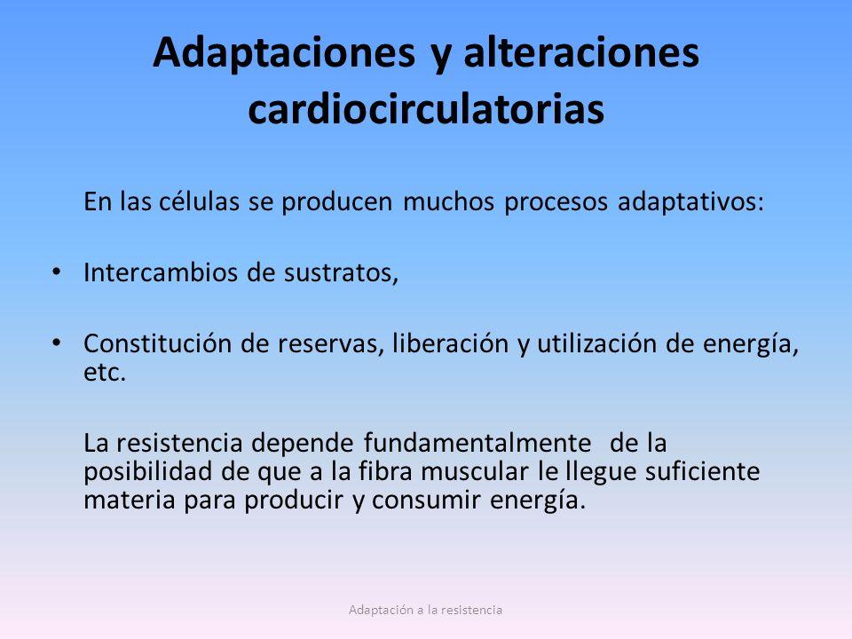 Adaptaciones y alteraciones cardiocirculatorias