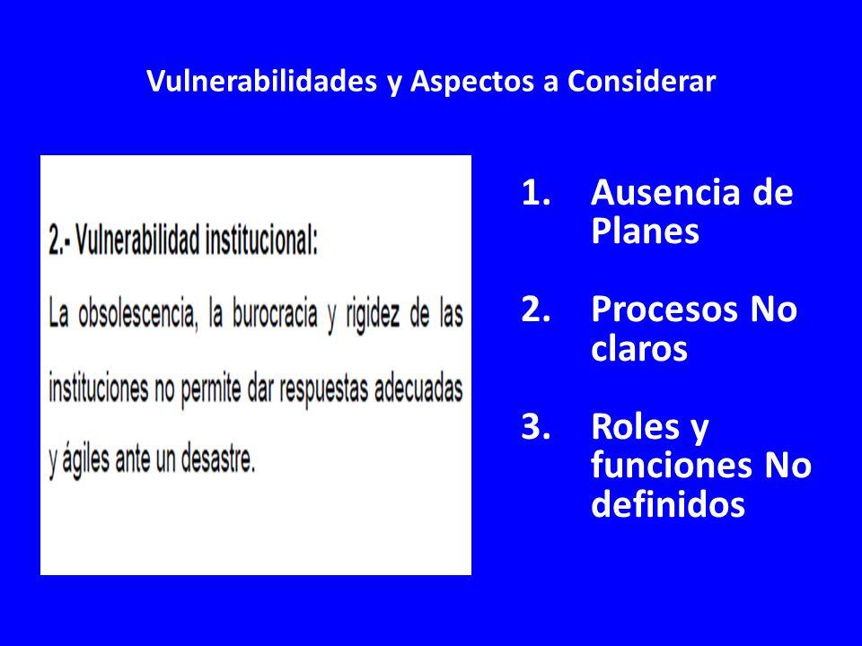 Vulnerabilidades y Aspectos a Considerar