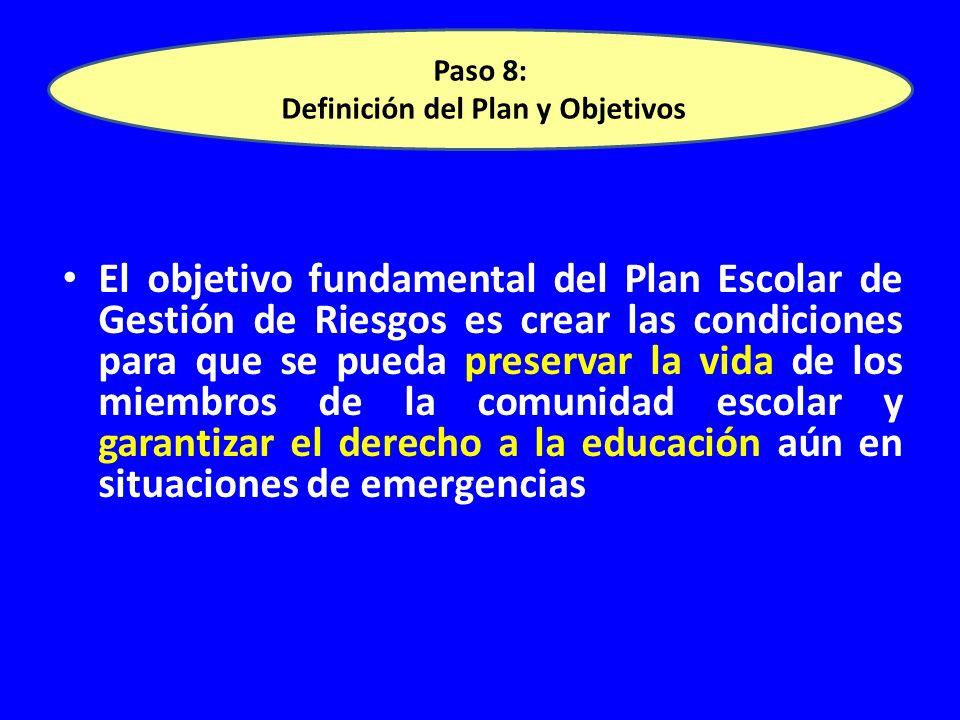 Paso 8: Definición del Plan y Objetivos