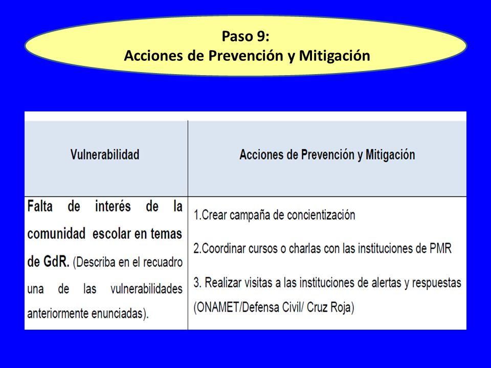 Paso 9: Acciones de Prevención y Mitigación