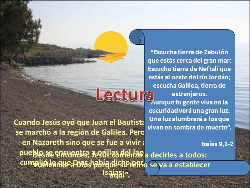 Escucha tierra de Zabulón que estás cerca del gran mar: