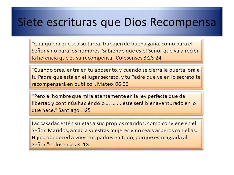 Siete escrituras que Dios Recompensa