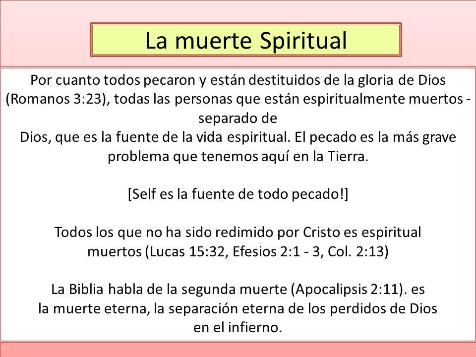 La muerte Spiritual