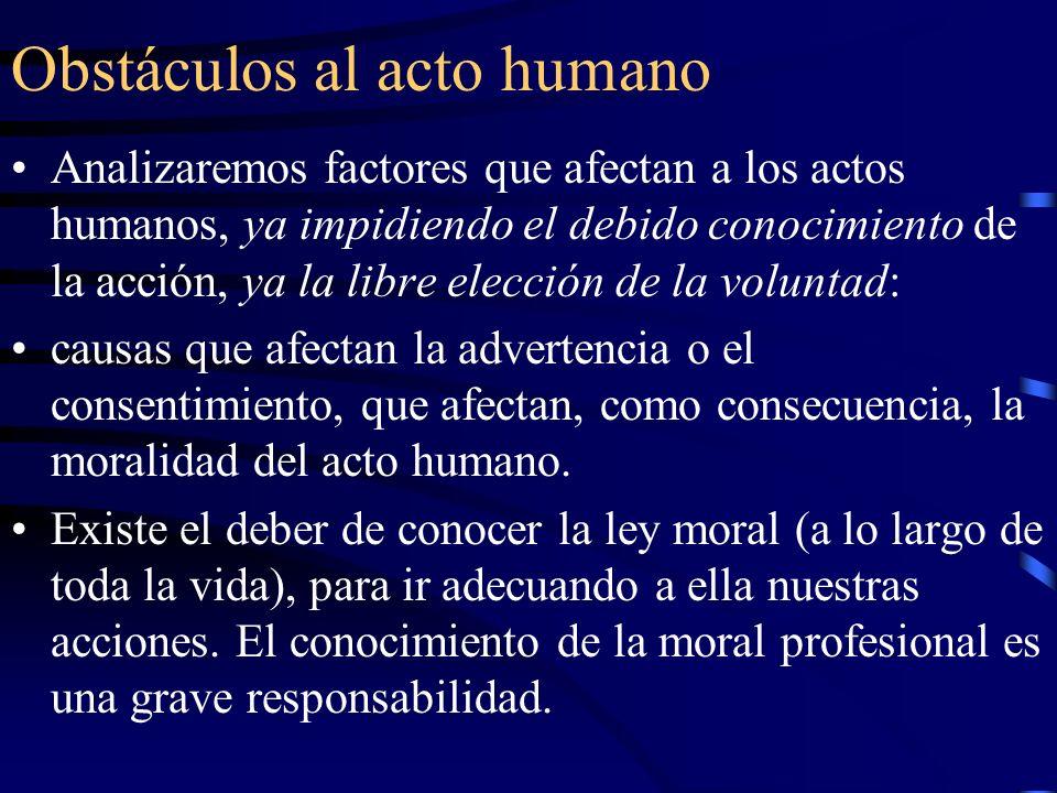 Obstáculos al acto humano