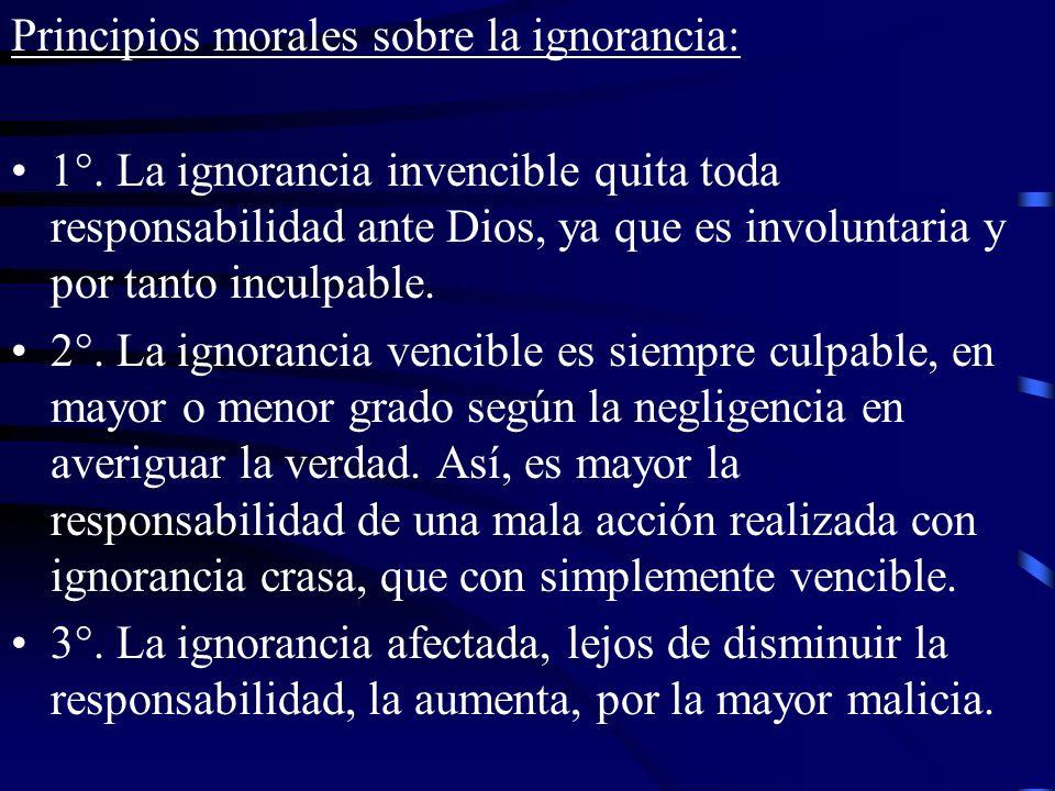 Principios morales sobre la ignorancia: