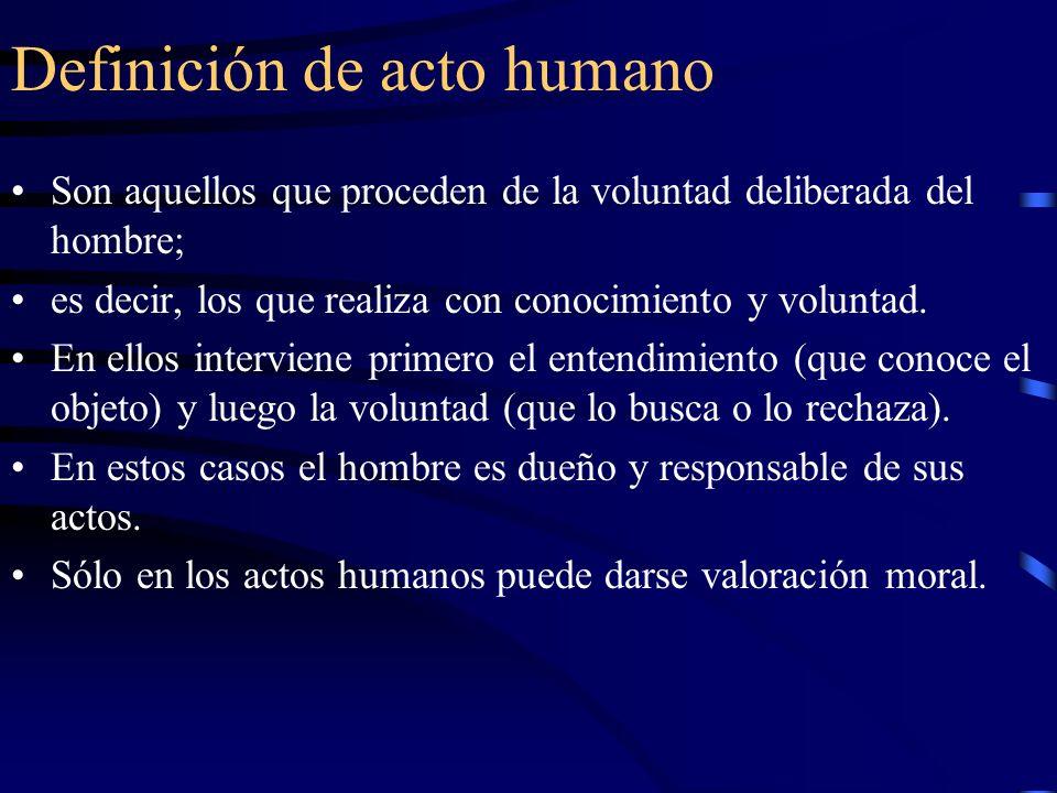 Definición de acto humano