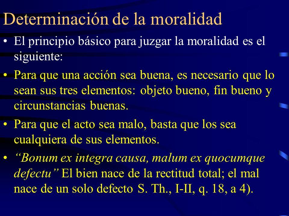 Determinación de la moralidad