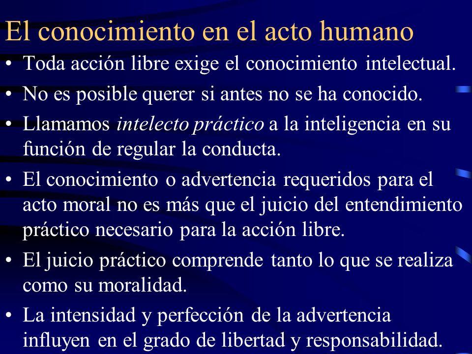 El conocimiento en el acto humano