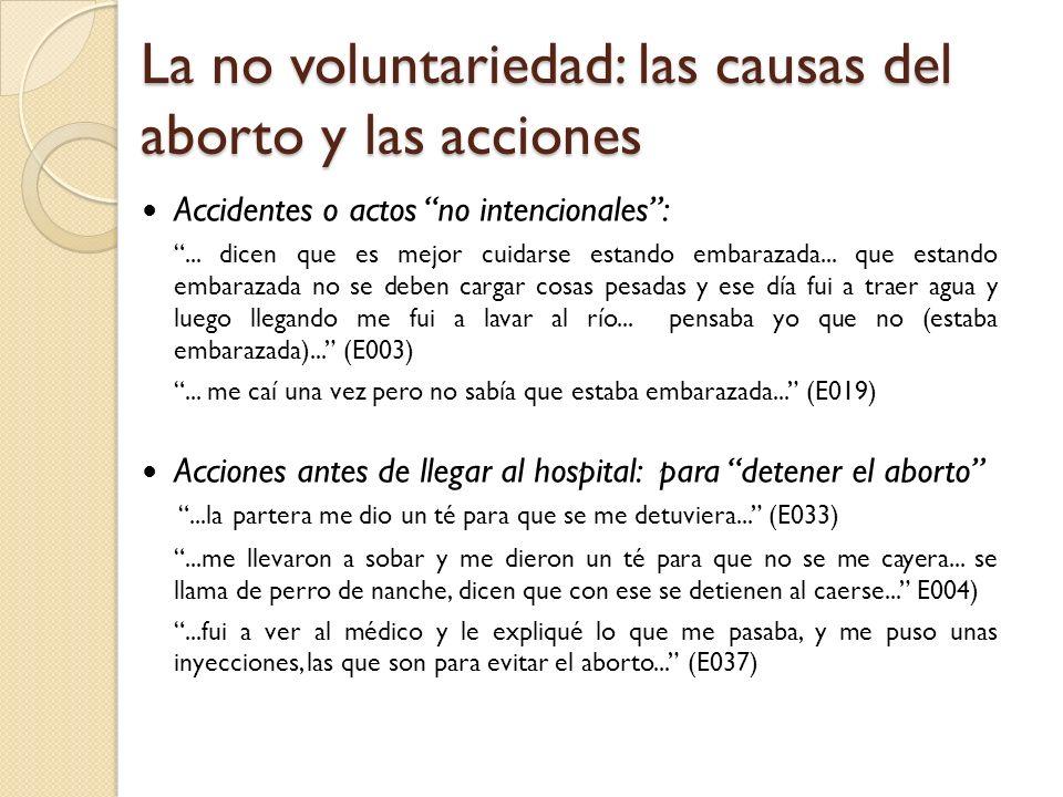 La no voluntariedad: las causas del aborto y las acciones