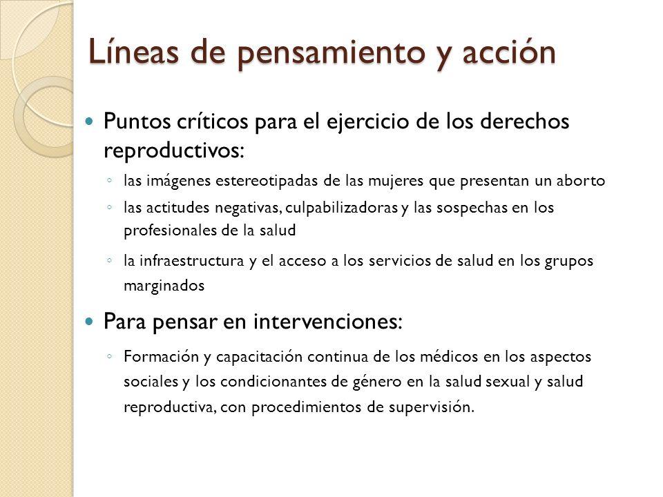 Líneas de pensamiento y acción