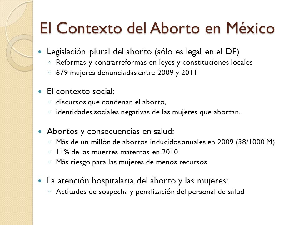 El Contexto del Aborto en México