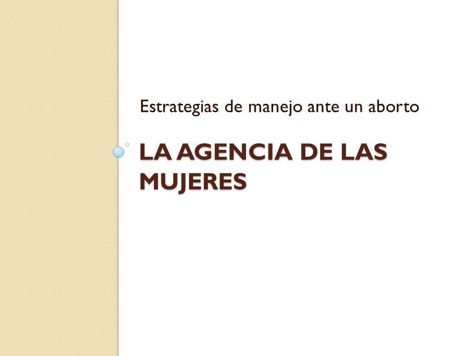 La agencia de las mujeres