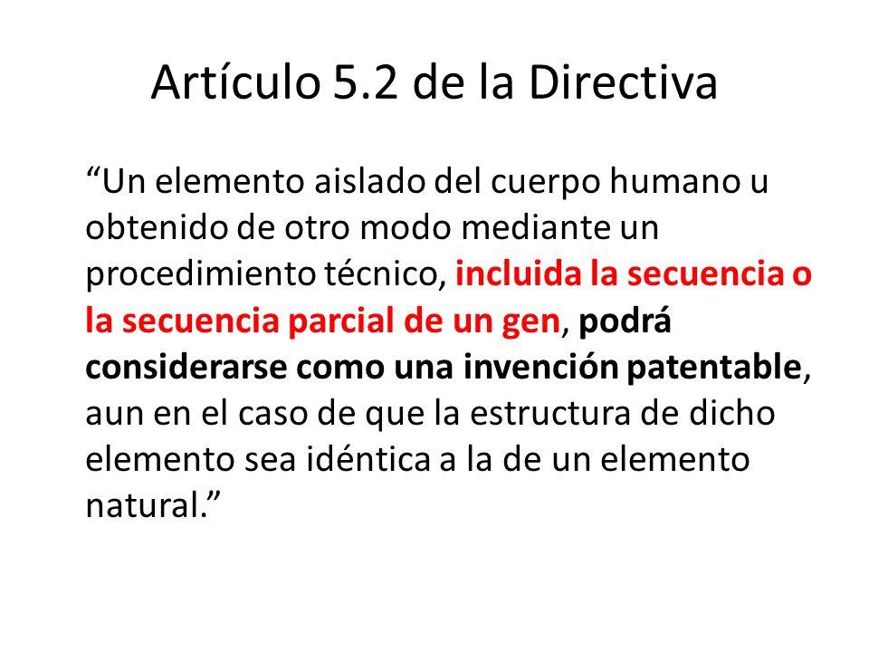 Artículo 5.2 de la Directiva