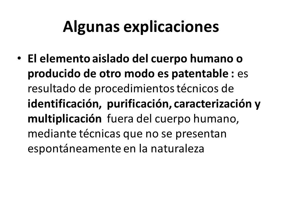 Algunas explicaciones