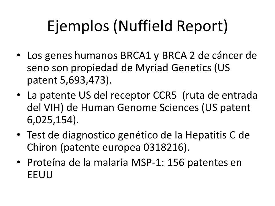 Ejemplos (Nuffield Report)